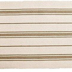 Kitchen Rugs Amazon Travertine Floor Ikea 平织区域厨房地毯条纹棉米色灰褐色抱垫 亚马逊中国