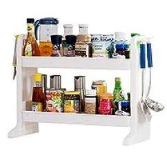 Kitchen Spice Rack Cabinet Design Software 调料架 厨房置物架 厨具 亚马逊 宝优妮厨房浴室置物架调味架调料架整理收纳架dq1306 亚马逊自营商品 由供应商配送
