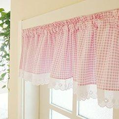 Kitchen Curtain Sets And Bath Showrooms Near Me Wpkira 窗帘完美可爱小点花边杆套杆窗帘适用于厨房窗帘 玻璃窗帘面板1 件
