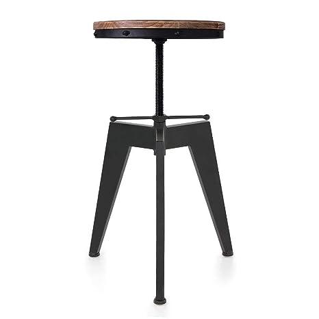 kitchen dining chairs ladders articial 座椅旋转厨房餐椅工业风格 吧凳子天然松木顶高度可调节 亚马逊 吧凳子天然松木顶高度