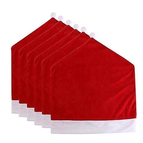 kitchen chair slipcovers ikea cabinets prices 圣诞老人帽椅套 红色帽子椅背套厨房椅套套装圣诞节节日 红色帽子椅背