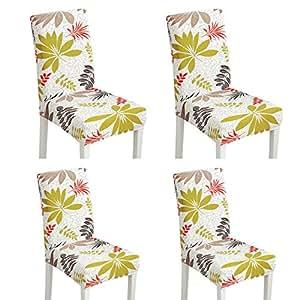 kitchen chair slipcovers tile backsplash 氨纶弹性椅套套装适用于餐厅厨房椅套餐椅椅套宴会椅套保护垫2 个款式1 4 氨纶弹性椅套套装适用于餐厅厨房椅套餐椅椅套宴会椅