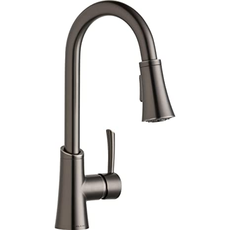 stainless steel kitchen faucet with pull down spray cabinet drawer inserts elkay gourmet 单杆下拉式喷雾厨房水龙头复古钢lkgt3032as