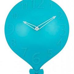 Blue Kitchen Wall Clocks Farmhouse Table 大号挂钟 易读数字和有趣的装饰气球设计 是育儿装饰 儿童房装饰 浴室 是育儿