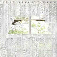 Kitchen Curtains Amazon Modern Lighting Ideas Sweet Home 系列旧世界风格花卉重蕾丝厨房窗帘swag 双