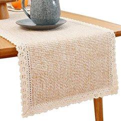 Amazon Kitchen Table Organization Products Shacos 棉质桌巾chindi 长条桌布适合厨房餐厅桌子婚礼派对table Top 面料