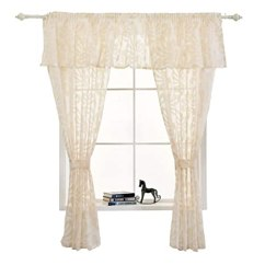 Kitchen Curtains Amazon Best Appliances Napearl 人造亚麻半透明短款窗帘厨房窗帘窗帘套装米色2 Panels Each 42