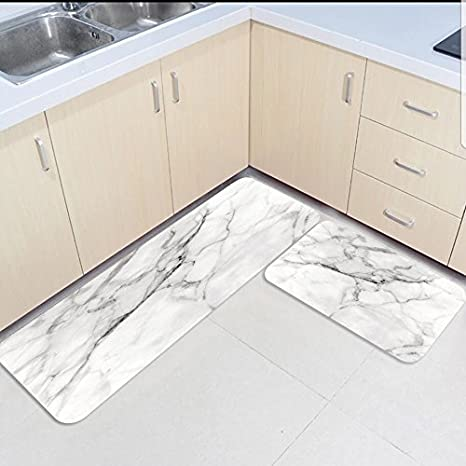 amazon kitchen mat cabinet pull out shelves marble 2 件套防滑门垫厨房垫淋浴地毯客厅地垫套装断裂线陶瓷风格 件套防滑门垫厨房垫淋浴地毯客厅地垫套装断裂