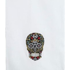 Kitchen Towel Bar Cost To Remodel 哥特式万圣节黑色骷髅厨房 吧餐具或手工客人毛巾 40 64 厘米x 63 5 厘米
