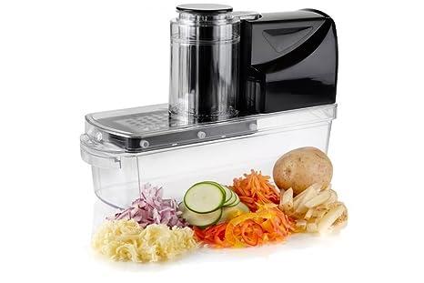 mandolin kitchen slicer sink base cabinet 自动电动曼陀林切片机和刨丝机 带5 个刀片和3 个刨丝器 用于水果 蔬菜 个刀片