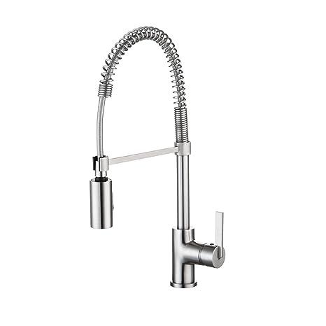 kitchen sink at lowes overstock faucets enzorodi 安住弹簧式无铅抽拉厨房龙头拉丝色无指纹erf7209251ap 美亚同款 美亚