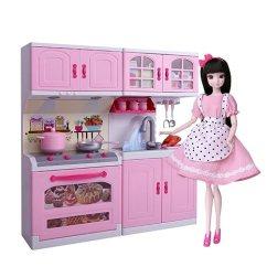 Barbie Kitchen Playset Cabinet Grease Remover 芭比娃娃安丽莉女孩玩具梦幻衣橱间换装洋娃娃玩偶布偶 公主智能厨房 芭比娃娃安丽莉女孩玩具梦幻衣橱间换装洋娃娃玩偶布