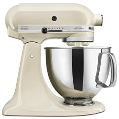 Kitchen Aid 5 Qt Mixer How Much Does It Cost To Remodel A Kitchenaid Ksm150psac Artisan系列5夸脱立式搅拌机带防溅罩杏色 需配