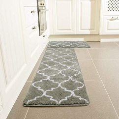 Kitchen Rugs Amazon Island Movable 厨房小地毯套装 Leevan 摩洛哥厨房舒适垫超软地毯超细纤维区域地毯防滑 摩洛哥厨房舒适垫超软地毯超细纤维