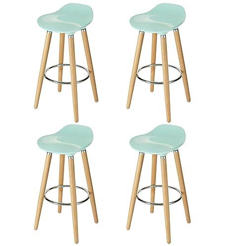 kitchen table legs tile backsplash ideas orolay abs 塑料吧凳厨房早餐扶手带木桌腿blue 4 zbtd01 blue 4pcs 家居