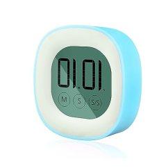 Digital Kitchen Timers Sink Stoppers Eberry 数字厨房计时器 触摸屏显示计时器电池供电提醒计时器带磁背和 触摸屏显示计时器电池供电提醒计时器带