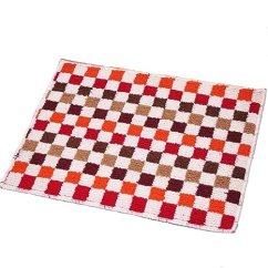 Amazon Kitchen Mat Appliances Bundles Euch Easychan 2 件套地毯橡胶底防滑厨房垫门垫小地毯红色马赛克17 X23 件套地毯橡胶底防滑厨房垫门垫小地毯红色