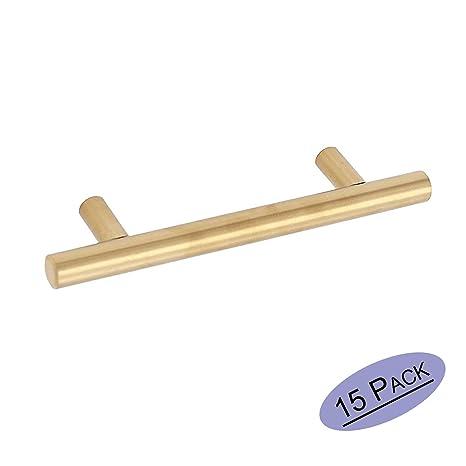 brass kitchen hardware top rated appliances 金色橱柜抽屉拉手厨房五金件 goldenwarm 201gd76 拉丝黄铜橱柜把手t 杆