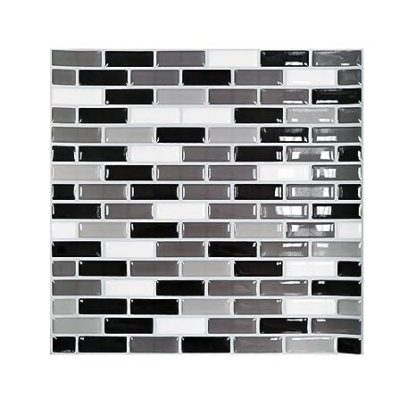 grey kitchen backsplash styles of cabinets smar 22 86cm x 高级即剥即贴墙贴 马赛克墙面瓷砖灰色 乙烯基 马赛克墙