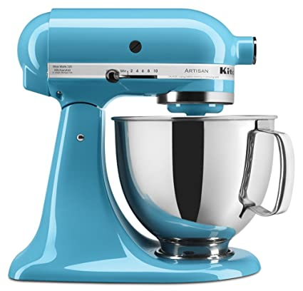 kitchen aid 5 qt mixer outdoor kitchens tampa fl kitchenaid 厨房帮手ksm150pscl artisan系列5夸脱搅拌机带防溅罩水晶蓝