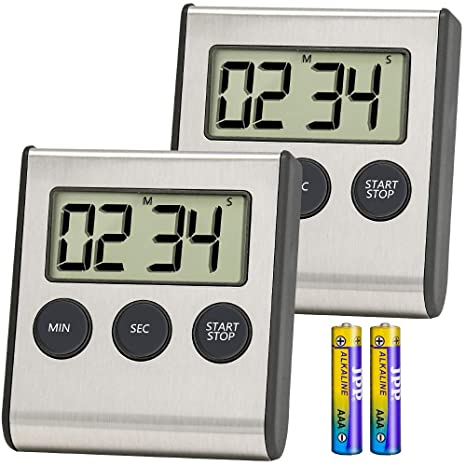 digital kitchen timers old fashioned sinks 数字厨房计时器 anko 烹饪计时器时钟 不锈钢贝壳 大数字显示 大声 大数字