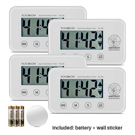 digital kitchen timers recycled countertops 数字厨房计时器 toobom 简单传感器数下 计数烹饪计时器 大数字 大声