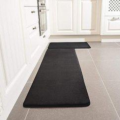 Black Kitchen Rugs Cute 厨房地毯套装leevan 海绵厨房舒适地垫超软毛毯超细纤维法兰绒区域runner 海绵厨房舒适地垫超软毛毯超细纤维