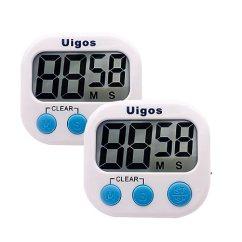 Digital Kitchen Timers Floating Island Uigos 数字厨房计时器ii 2 0 大数字 大闹钟 磁性背衬 支架 适用于 磁性背