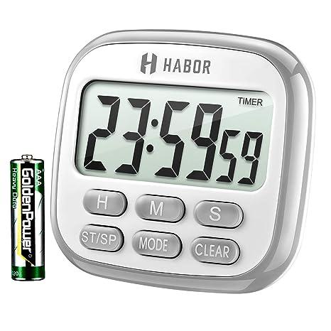digital kitchen timers counter habor 数字厨房计时器 烹饪计时器 大显示屏 强力磁背 大声警报 内存 强力磁