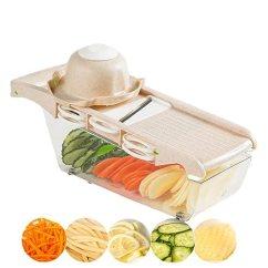 Mandolin Kitchen Slicer Aid Mixer Attachment 蔬菜切片机6 刀片多功能蔬菜曼陀林切片机土豆切片机适用于朋友和薯片 刀片多功能蔬菜曼陀林切片机土豆切片机