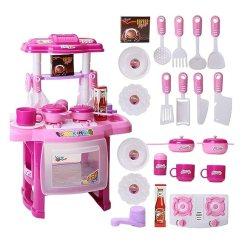 Toy Kitchen Sets Counters Lowes Naturhand 南禾儿童过家家玩具厨房餐具台灯光音乐仿真厨具益智玩具多功能 南禾儿童过家家玩具厨房餐具台灯光音乐仿真厨具益