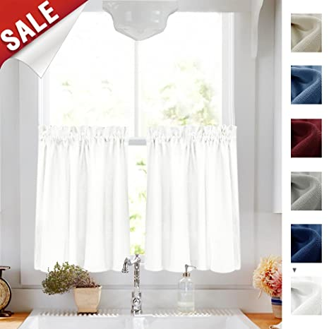 valances for kitchen windows what is the best way to unclog a sink 半层窗帘和swags 帷幔厨房套装房间 jinchan 价格报价图片 海外购美亚直邮