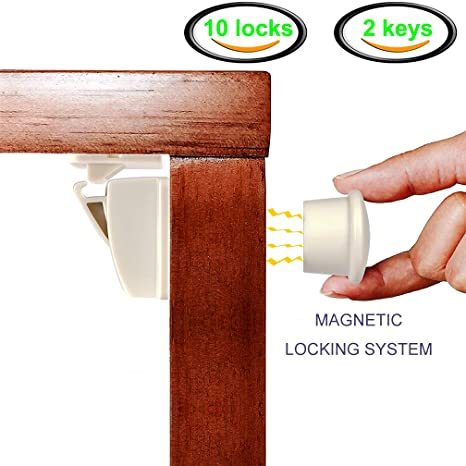 kitchen cabinet latches magnetic knife holder hongjing baby proofing 磁性橱柜锁 儿童 锁 10 个装儿童 个装儿童保护