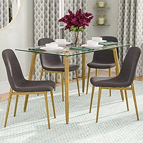 kitchen chair slipcovers cheap hardware ids 家用厨房餐厅椅子套适用于6 people 木制look 图案餐厅桌子side 椅子 图案餐厅桌子