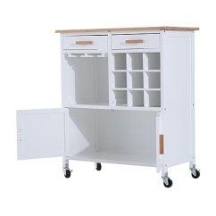 Rolling Kitchen Cabinet Tea Towels Homcom 35 英寸滚动厨房手推车带橱柜抽屉和 架 亚马逊中国 厨具