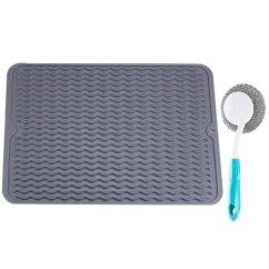 Kitchen Dish Drying Mat Refrigerator 硅胶干燥垫大型洗碗机垫厨房柜盆水槽垫灰色dc 122 亚马逊中国 厨具