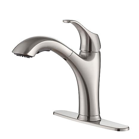 kraus kitchen faucet backspash 美国kraus 克劳思拉丝双功能抽拉式冷热厨房水龙头kpf 2250ss 美国亚马逊