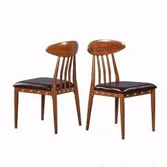 Wood Kitchen Chairs Containers Set Greenforest 餐椅 带pu 皮革和金属框 现代厨房椅 胡桃木2 件套 厨具 胡桃