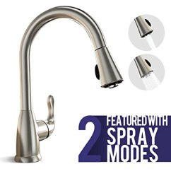 Stainless Steel Kitchen Faucet With Pull Down Spray Bobs Furniture Island 不锈钢厨房水龙头单手柄拉式喷雾器 拉出式厨房水槽水龙头拉丝镍 拉出式厨房水槽水龙头拉丝