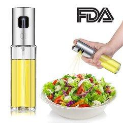 Oil Dispenser Kitchen Delta Faucet Hose Replacement 升级 橄榄油喷雾器 食品级醋瓶油分配器玻璃 配有清洁刷 用于制作沙发 配