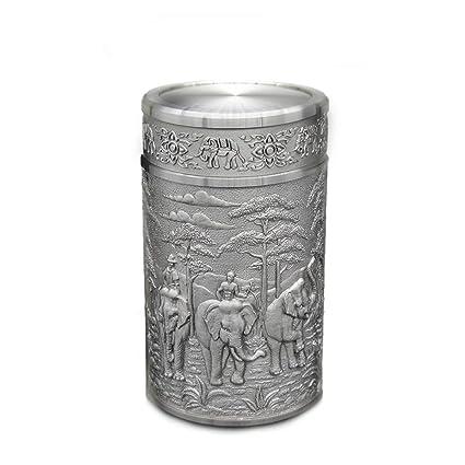 pewter kitchen faucet lights menards oriental 锡制茶叶罐 锡含量97 以上 双层密封锡盖 泰国浮雕 双层