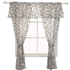 Kitchen Curtains Amazon Brass Pulls Napearl 人造亚麻半透明短款窗帘厨房窗帘窗帘套装棕色2 Panels Each 42