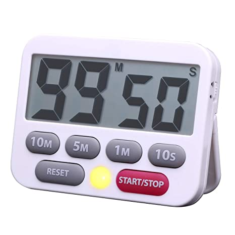 digital kitchen timers full hotels 数字厨房计时器倒计时器10 分钟5 分钟1 分钟计时器时钟大数字音响警报 分钟计时器时钟大