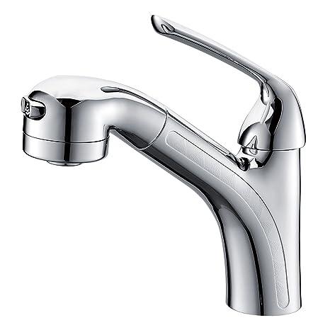 kitchen sink amazon hgtv cabinets 清仓 kegoo 科固k02005 厨房水槽双用龙头抽拉式面盆龙头水龙头冷热浴室 厨房水槽双用龙头抽拉式面盆