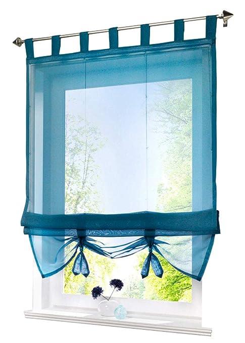 kitchen curtains amazon portable island zebrasmile 纯色可升降窗帘可爱蝴蝶结领结罗马帘标签上半透明厨房薄纱 纯色可升降窗帘可爱蝴蝶结领结罗马帘标签上半透明厨房薄
