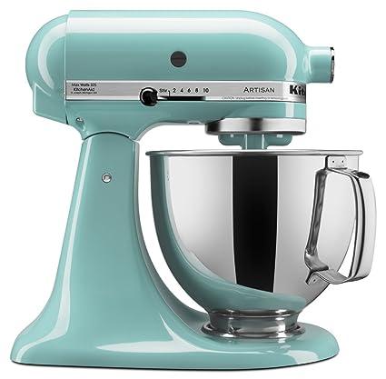 kitchen aid 5 qt mixer target stools kitchenaid 厨房帮手工匠系列ksm150psaq 立式搅拌机带倒入保护青色 立式搅拌机带倒入