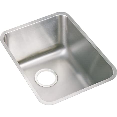 stainless steel undermount kitchen sinks island with seating for 2 elkay lustertone eluh141810 单碗底底座不锈钢厨房水槽 亚马逊中国