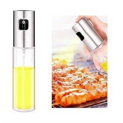 Oil Dispenser Kitchen Light Cover Stajoy 油喷雾器 橄榄油喷雾器玻璃瓶油分配器 含刷子不锈钢食品级玻璃 含刷子不锈钢食品