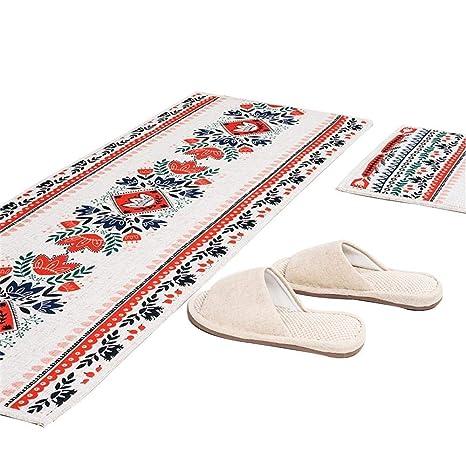 amazon kitchen mat folding step stool mf 棉和亚麻门垫防滑厨房垫小地毯运动员吸水抗 中国图案18 x47 中国