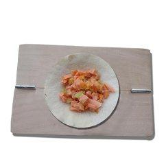 Wood Mode Kitchens Navy Blue Kitchen Rugs Huajian Ravioli 模制翻盖制作器包装饼模具木制厨房小工具 适用于家居